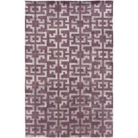 Hand-Knotted Angeline Geometric New Zealand Wool Area Rug - 5' x 8'