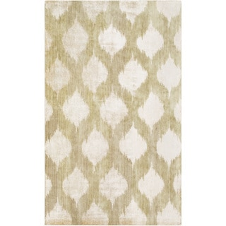 Hand-Knotted Yolanda Ikat New Zealand Wool Rug (5' x 8')