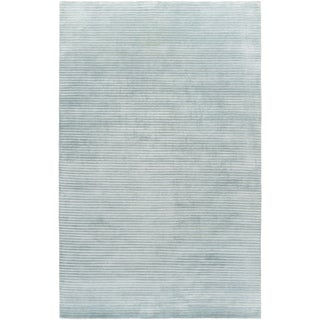 Hand-Knotted Zachary Solid New Zealand Wool Area Rug - 5' x 8'