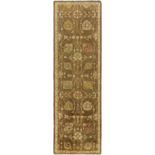 Hand-Knotted Caitlin Floral New Zealand Wool Rug (2'6 x 8')