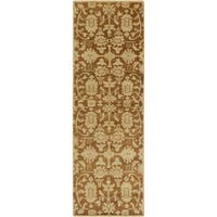Hand-Knotted Wilbur Floral New Zealand Wool Area Rug (2'6 x 8')