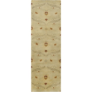 Hand-Knotted Westin Floral New Zealand Wool Rug (2'6 x 8')