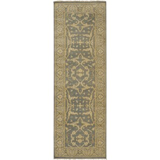 Hand-Knotted Tyrone Floral New Zealand Wool Rug (2'6 x 8')