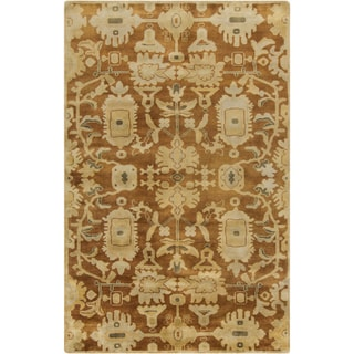 Hand-Knotted Wilbur Floral New Zealand Wool Rug (2' x 3')