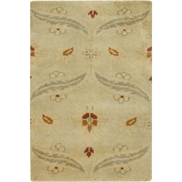 Hand-Knotted Westin Floral New Zealand Wool Area Rug (2' x 3')