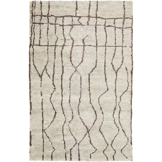 Hand-Knotted Ross Abstract Pattern Hemp Rug (2' x 3')
