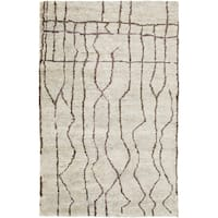 Hand-Knotted Ross Abstract Pattern Hemp Area Rug - 2' x 3'