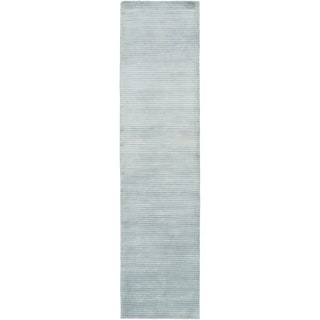 Hand-Knotted Zachary Solid New Zealand Wool Rug (2'6 x 10')