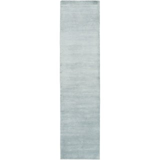 Hand-Knotted Zachary Solid New Zealand Wool Area Rug (2'6 x 10')