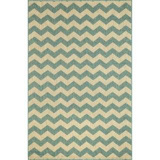 Geometric Stripe Outdoor Rug (3'3X4'11)