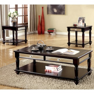 Furniture of America Solt Transitional Brown 3-piece Accent Table Set