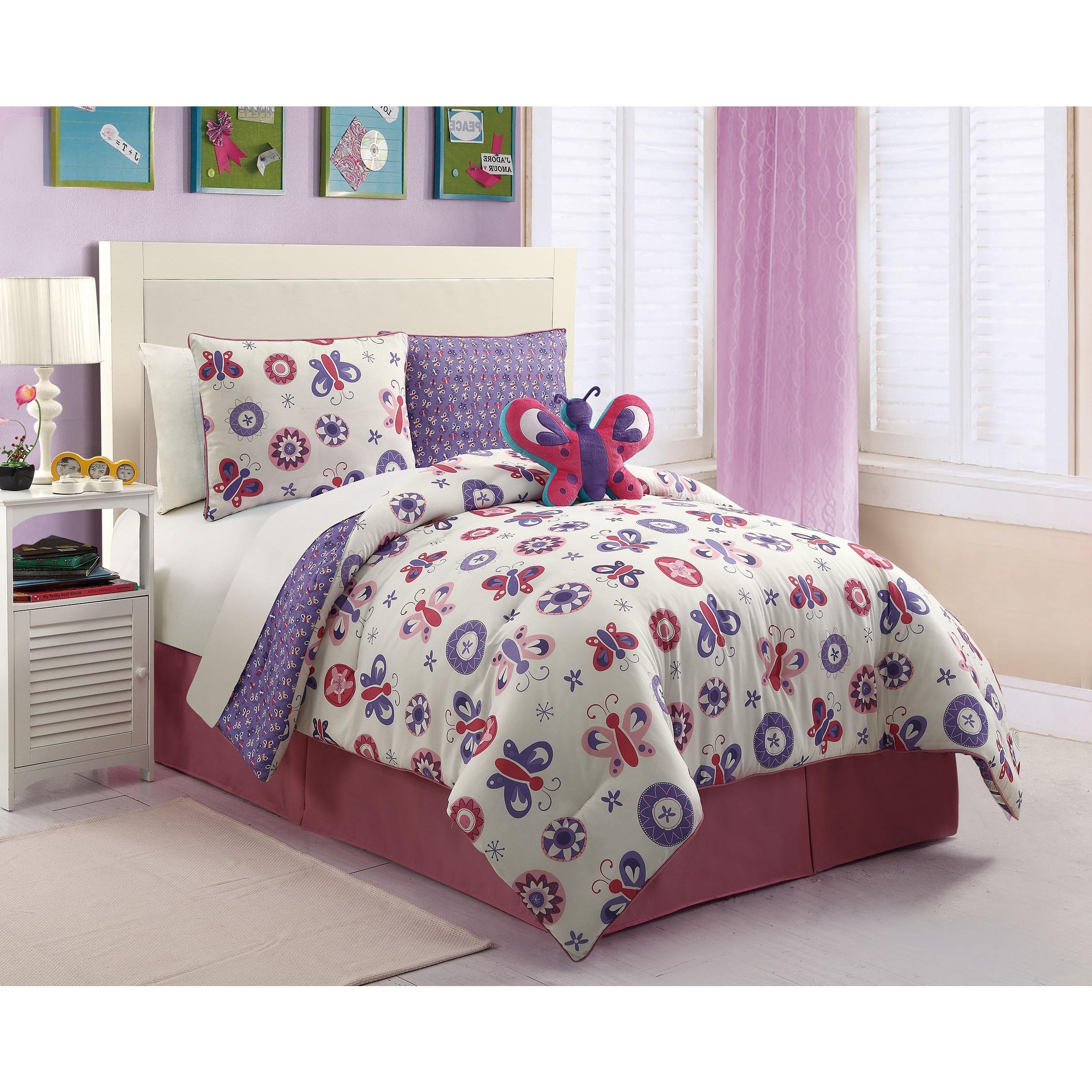 Vcny Butterfly Comforter Set (Butterfly - 4pc Rev Comfort...
