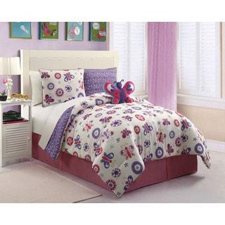 VCNY Butterfly Comforter Set