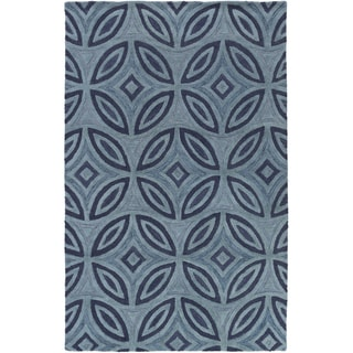 Hand-Tufted Natalee Geometric Pattern Wool Area Rug