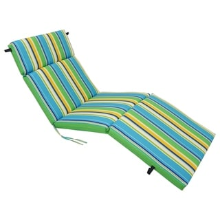 Blazing Needles 72-inch x 24-inch Spun Polyester Outdoor Chaise Lounge Cushion
