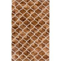Handmade Michael Geometric Pattern Leather Area Rug - 8' x 10'