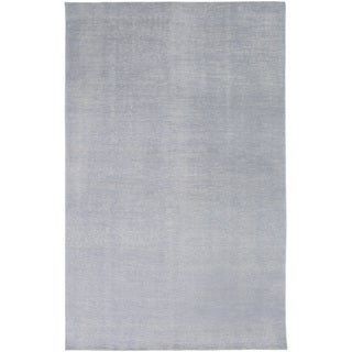 Hand-Knotted Natalya Solid Pattern Wool Rug (5'6 x 8'6)