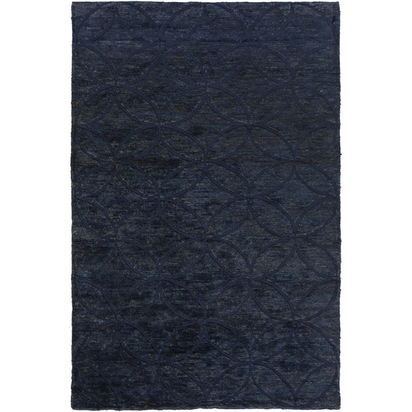 Hand-Knotted Monique Geometric Pattern Jute Rug (5' x 8')