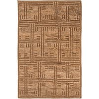 Hand-Knotted Maurice Geometric Pattern Jute Area Rug - 5' x 8'