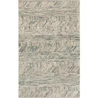 Hand-Woven Maureen Stripe Pattern Wool Area Rug