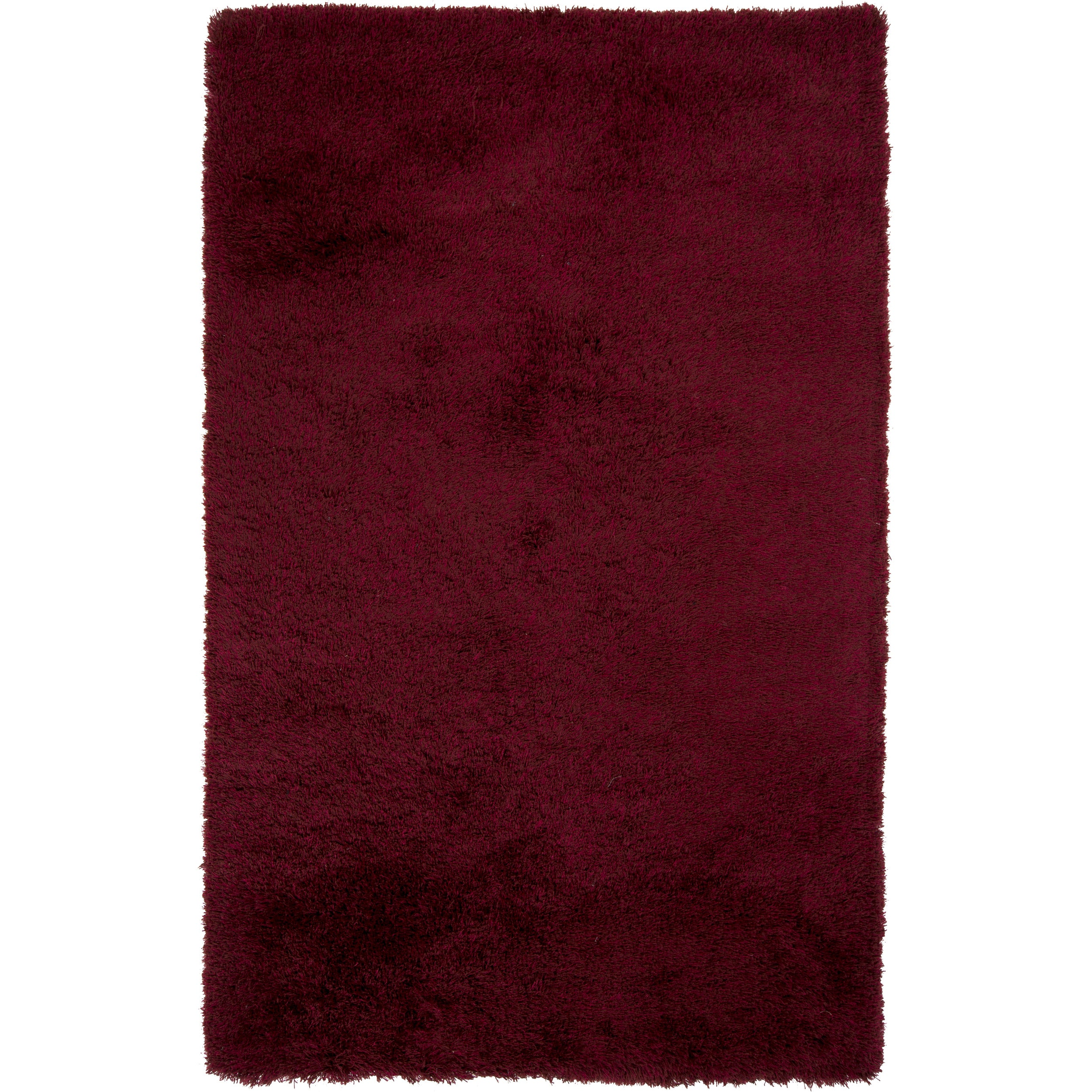 Hand-Woven Melanie Solid Pattern Polyester Rug (2' x 3') ...