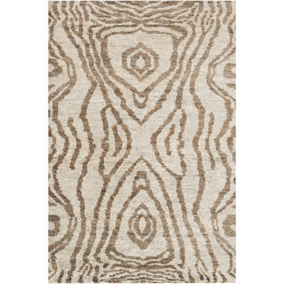 Hand-Knotted Roth Abstract Pattern Hemp Rug (2' x 3')