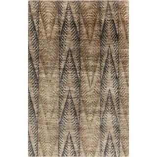 Hand-Knotted Nell Ikat Pattern Hemp Rug (2' x 3')