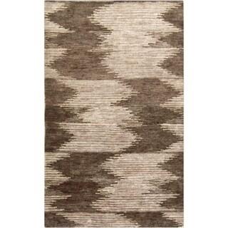 Hand-Knotted Mina Ikat Pattern Hemp Rug (2' x 3')