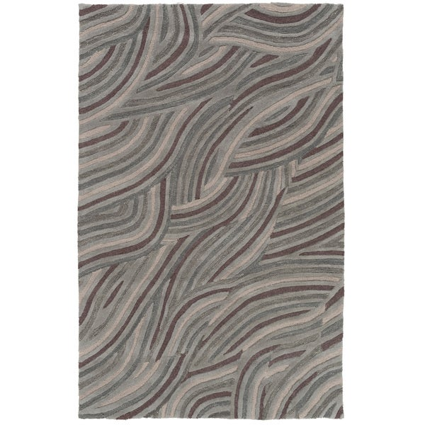 Hand-Tufted Natalie Geometric Pattern Wool Area Rug