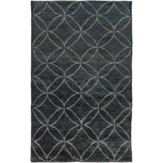 Hand-Knotted Monique Geometric Pattern Jute Rug (2' x 3')