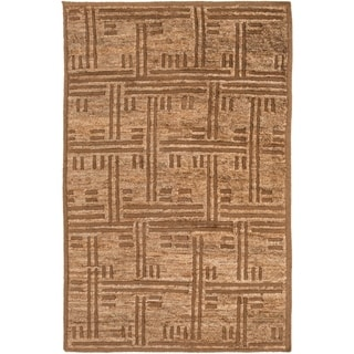 Hand-Knotted Maurice Geometric Pattern Jute Rug (2' x 3')