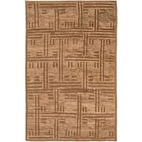 Hand-Knotted Maurice Geometric Pattern Jute Area Rug (8' x 11')