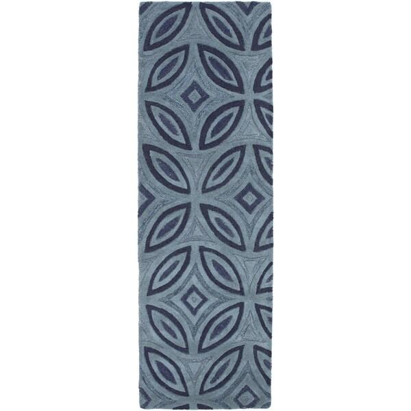 Hand-Tufted Natalee Geometric Pattern Wool Area Rug
