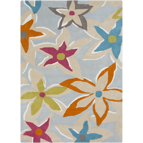 Hand-Tufted Mollie Floral Wool Area Rug
