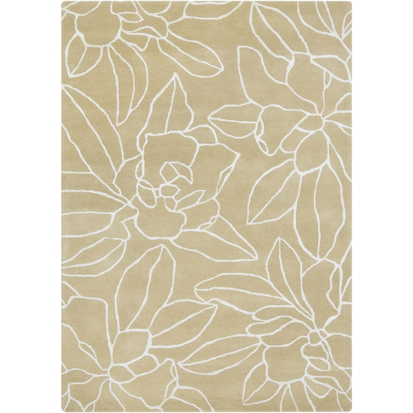 """Hand-Tufted Maliah Floral Wool Area Rug - 3'3"""" x 5'3"""""""