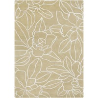 Hand-Tufted Maliah Floral Wool Area Rug - 3'3 x 5'3'