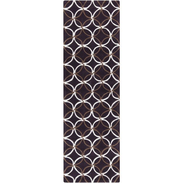 Hand-Tufted Connie Contemporary Polyester Rug (2'6 x 8')