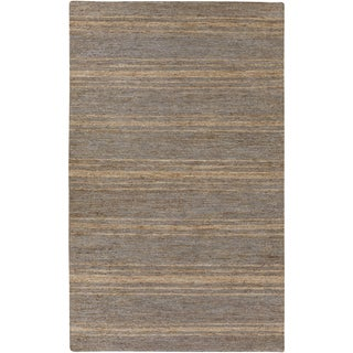 Hand-Woven Fredrick Stripe Pattern Jute Rug (5' x 8')