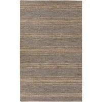 Hand-Woven Fredrick Stripe Pattern Jute Area Rug (5' x 8')