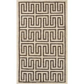 Hand-Woven Gilberto Geometric Pattern Jute Area Rug