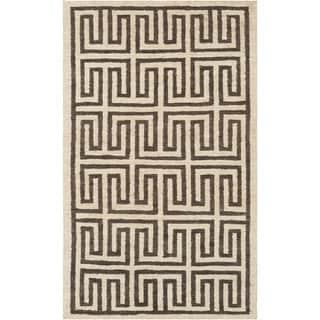 Hand-Woven Gilberto Geometric Pattern Jute Rug (5' x 8')