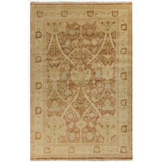 Hand-Knotted Darrell Floral New Zealand Wool Rug (2' x 3')