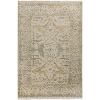 Hand-Knotted Dimitri Floral New Zealand Wool Rug (2' x 3')