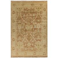 Hand-Knotted Darrell Floral New Zealand Wool Area Rug (3'6 x 5'6)