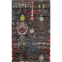 Hand-Knotted Felicity Ikat Pattern Cotton Area Rug - multi - 2' x 3'