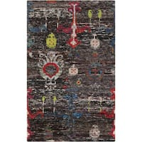 Hand-Knotted Felicity Ikat Pattern Cotton Area Rug - 2' x 3'