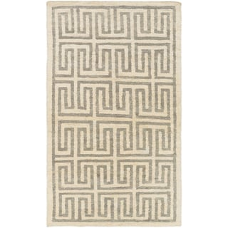 Hand-Woven Gilberto Geometric Pattern Jute Rug (2' x 3')