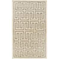 Hand-Woven Gilberto Geometric Pattern Jute Area Rug (2' x 3')