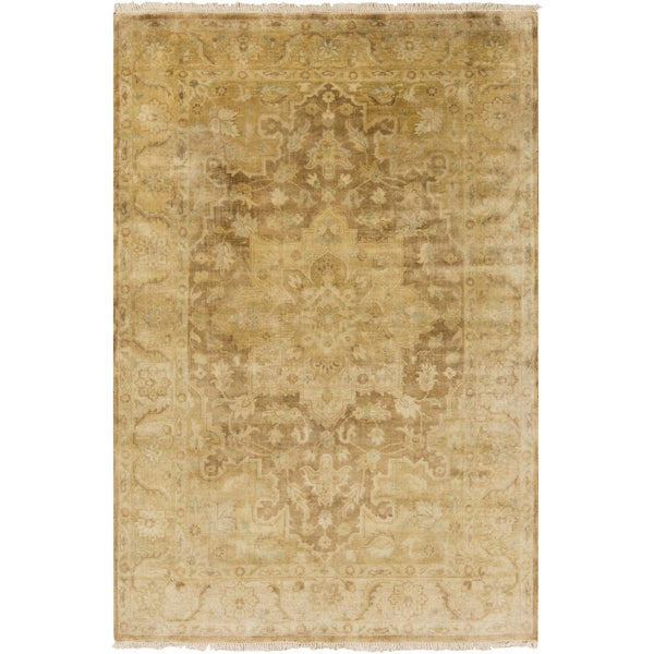 Shop Hand-Knotted Stefan Floral New Zealand Wool Area Rug