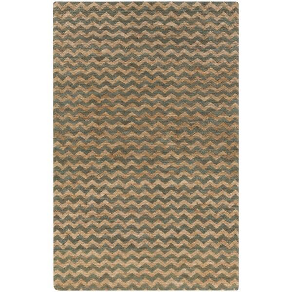 Hand-Woven Angelica Stripe Pattern Jute Area Rug - 8' x 11'